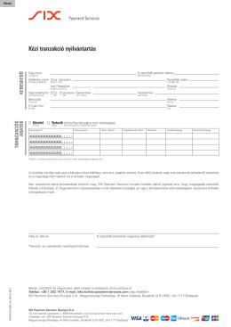 Form Kézi tranzakció nyilvántartás