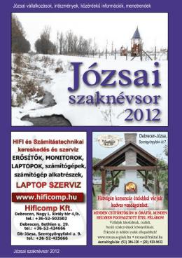 Józsai Szaknévsor 2012. - Debrecen