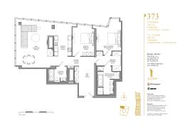 37 PIĘTRO 142,5 m² 3 POKOJE 37th FLOOR 142,5 m² 3