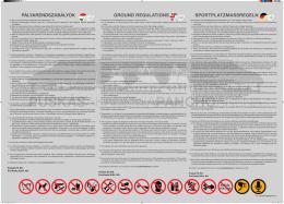 pályarendszabályok ground regulations sportplatzmassregeln