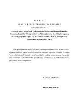 Uchwała Senatu RP do druku nr 865