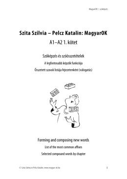 Szita Szilvia – Pelcz Katalin: MagyarOK A1–A2 1. kötet - magyar