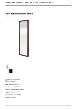 Ékszertartó szekrény : Barna fa tükrös ékszertartó falra