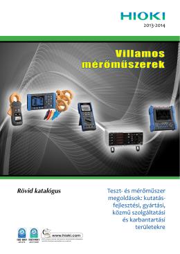 Villamos mérőműszerek - ProMet Méréstechnika Kft.