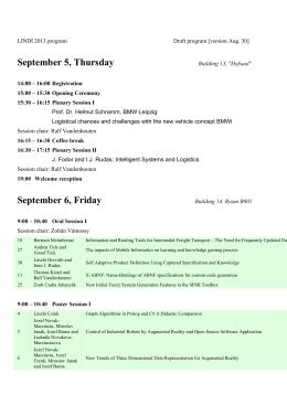 LINDI 2013 program