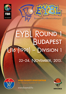 EYBL Round 1 Budapest