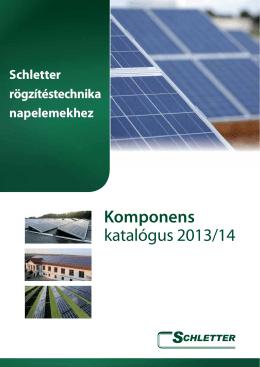 Komponens katalógus 2013/14