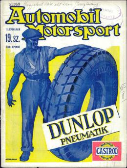 Automobil motorsport 1928 3. évfolyam 19. szám