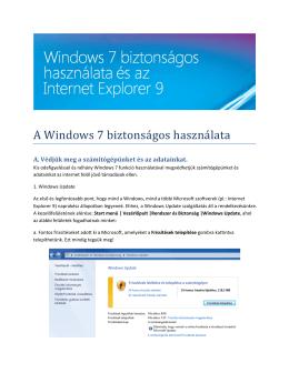 A Windows 7 biztonságos használata