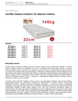 Ceriflex Selena Comfort 22 vákuum matrac