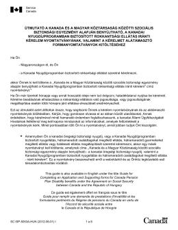 útmutató a kanada és a magyar köztársaság