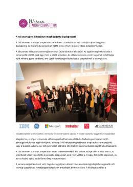 A női startupok élmezőnye meghódította Budapestet!