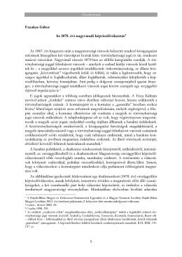 Fazakas Gábor: Az 1878. évi nagyváradi képviselőválasztás