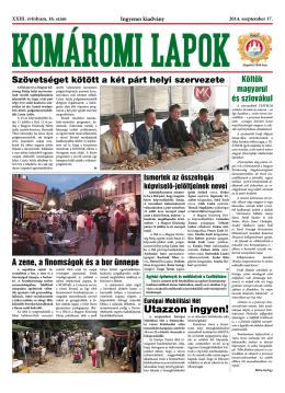 Komáromi Lapok 16/2014