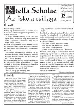 12. szám - Bethlen Gabor Altalanos Iskola weblapja