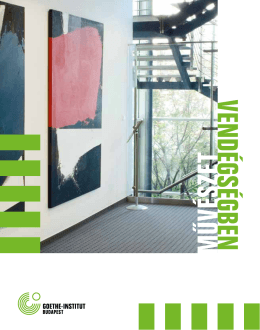Művészet vendégségben - letölthető katalógus - Goethe