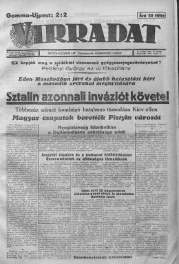 Virradat - 9. évf. 19. sz. (1944. május 8.)