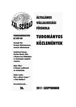 26. szám - Tudósgenerációk az ÁVF-en (2011)