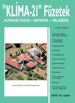 KLÍMA-21 Füzetek 63. szám