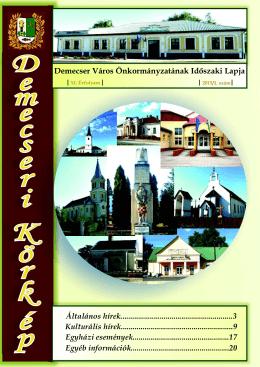 Demecseri újság – web