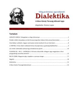 Megjelent a Dialektika
