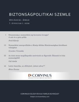 1. szám (PDF) - Biztonságpolitikai Szemle