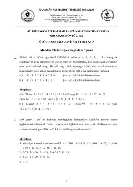 5. osztály 2. nap - Kalmár László Matematika Verseny