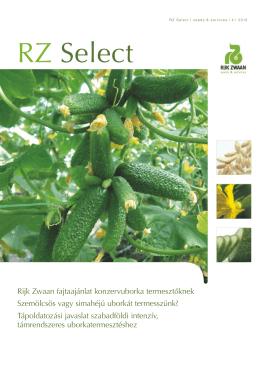 RZ Select Konzervuborka fajtaajánlat 2012