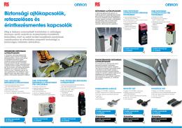 Biztonsági ajtókapcsolók, reteszeléses és érintkezésmentes kapcsolók