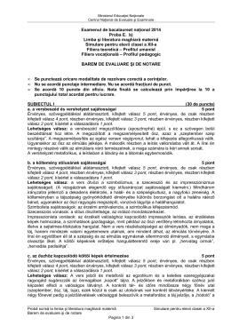 Examenul de bacalaureat național 2014 Proba E. b) Limba şi