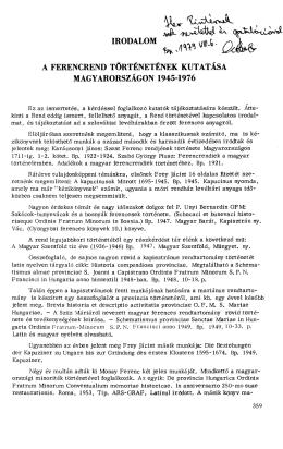 m0DAU>Mw. ^ ^ - a U - Magyar Ferences Könyvtár és Levéltár