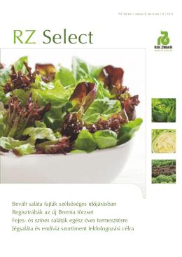 Megjelent az RZ Select Szabadföldi saláták c