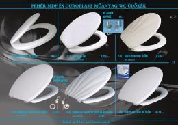 fehér mdf és duroplast műanyag wc ülôkék - Pan