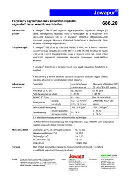 686.20 Poliuretán ragasztó műszski adatlap