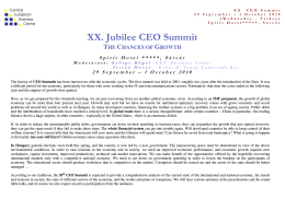 XX. Jubilee CEO Summit