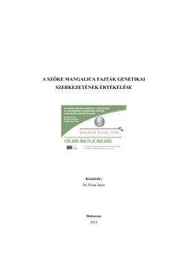 a szőke mangalica fajták genetikai szerkezetének értékelése