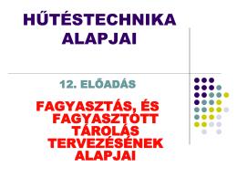 Hűtéstechnika VII.