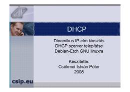 DHCP - Letöltések CsIP.eu