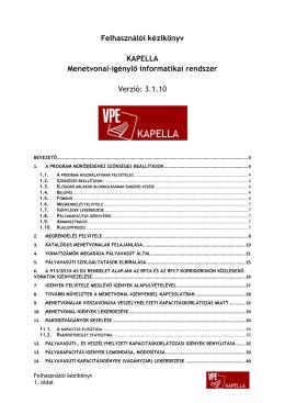 KAPELLA kéziköny 3.1.10 - pdf - Vasúti Pályakapacitás