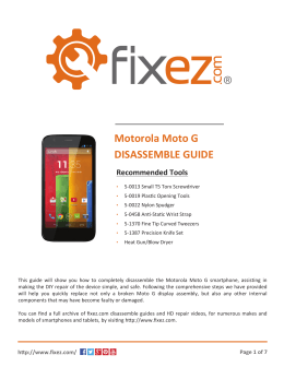 the Motorola Moto G Disassemble Guide