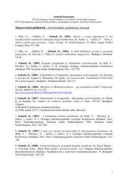 Publikációi - Nyelvtudományi Tanszék