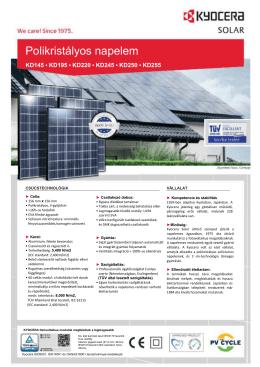 Kyocera_KD240-255GH - napkollektorrendszer.eu