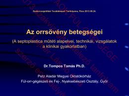 Az orrsövény betegségei.pdf - PTE ÁOK Fül-Orr