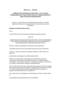 2012. évi CCXXIII. törvény