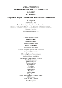 pdf formátumban - Carpathian Region International Youth Guitar