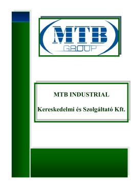 Megtekintés - MTB Industrial Kereskedelmi és Szolgáltató Kft.
