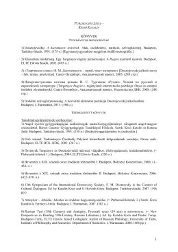 KÖNYVEK 1) Dosztojevszkij: A Karamazov testvérek. Alak