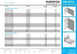 EUROFOX ÁRLISTA