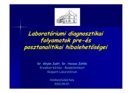 Laboratóriumi diagnosztikai folyamatok pre