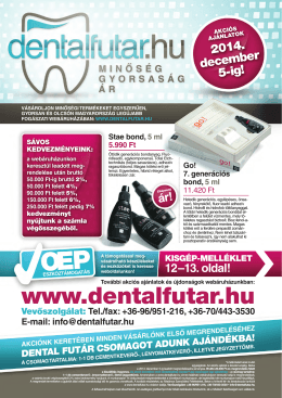 www .dentalfutar.hu - Dental Futár Fogászati Segédanyagok